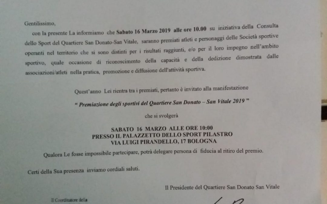 Sabato premiato Cataldo Caruso