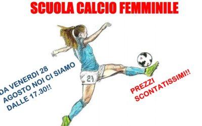 Al via la Scuola Calcio Femminile